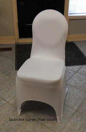 C6. Spandex Curved Chair Cover