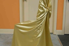 C9. Gold Satin Chair Wrap