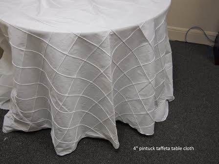 T10. 4-inch Pintuck Tablecloth
